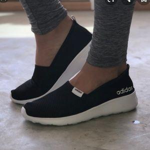 Adidas Lite Black Memory Foam Slip On Shoes